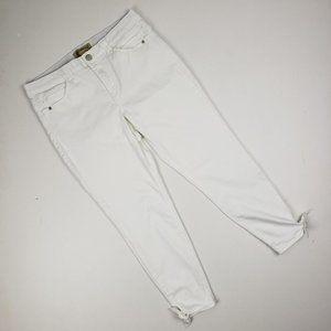 Democracy White Tie Bottom Denim Size 12